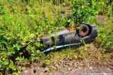 Crashed Amusement Park Race Car