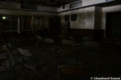 Inside Boarded-Up Cafeteria
