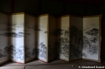 abandoned japanese folding screen