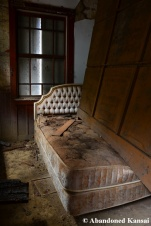 abandoned mansion bed