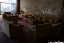 abandoned onsen hotel lobby in good condition