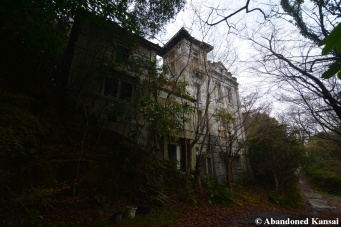 abandoned western castle mansion in japan