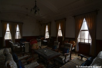 abandoned western style living room in japan