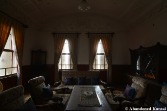 abandoned western style mansion room in japan