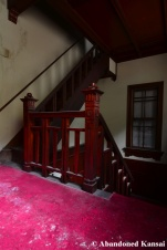 abandoned western style staircase