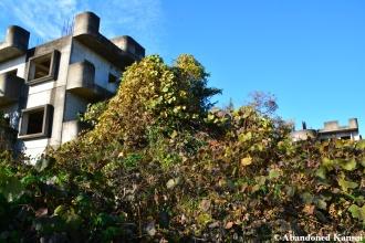 concrete apartment construction ruin