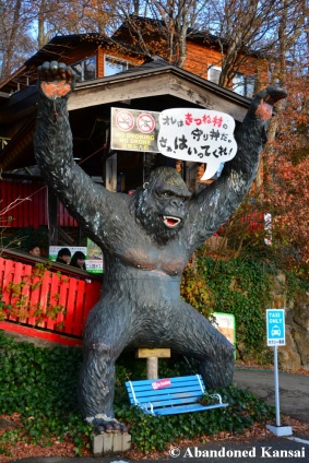gorilla at the entrance