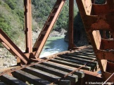 Abandoned Railroad Bridge Over A River