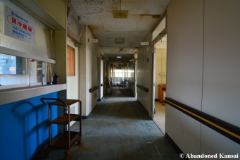 Deserted Hospital Hallway
