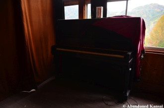 Abandoned Full-Size School Piano