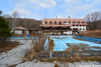Abandoned Onsen Hotel Outdoor Pool
