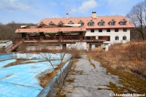 Abandoned Resort Hotel Outdoor Pool