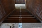 Abandoned Wooden School Staircase In GoodCondition
