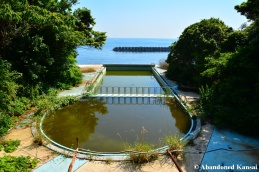 Abandoned Hotel Pool By The Sea