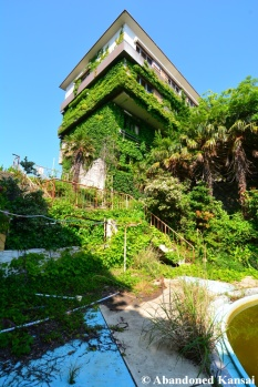 Overgrown Resort Hotel Pool Area