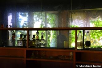Vandalized Resort Hotel Bar Mirrors
