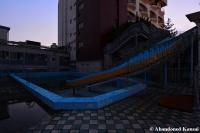 Abandoned Rooftop Waterslide