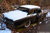 Abandoned Black Car Snow