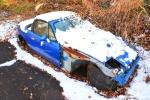 Abandoned Blue CarSnow