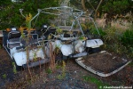 Two Abandoned GolfCarts