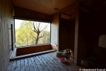 Wooden Onsen On ASlope
