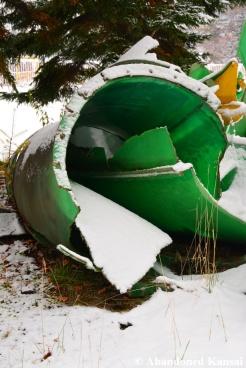 Abandoned Broken Water Slide