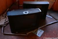 Abandoned Love Hotel TVs