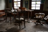 Abandoned Old Doctor's Desk