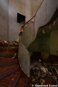 Abandoned Restaurant Staircase