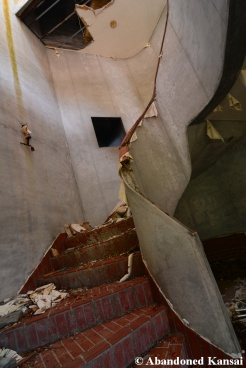 Abandoned Restaurant Stairway
