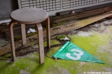 Abandoned Ground Golf Flag