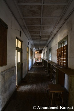 Abandoned School Atmospheric Hallway